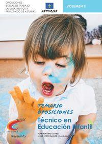 TEMARIO 2 - TECNICOS DE EDUCACION INFANTIL - AYUNTAMIENTOS DE ASTURIAS Y PRINCIPADO DE ASTURIAS