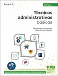 (2 ED) FPB - TECNICAS ADMINISTRATIVAS BASICAS