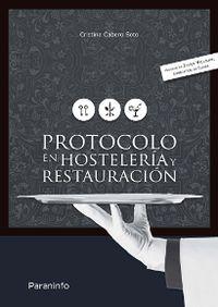 PROTOCOLO EN HOSTELERIA Y RESTAURACION