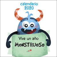 CALENDARIO 2020 - VIVE UN AÑO MONSTRUOSO (PARED)