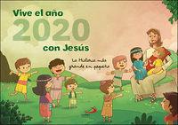 Calendario 2020 - Vive El Año 2020 Con Jesus (pared) - Aa. Vv.