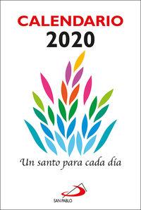 Calendario 2020 - Un Santo Para Cada Dia (grande) - Aa. Vv.