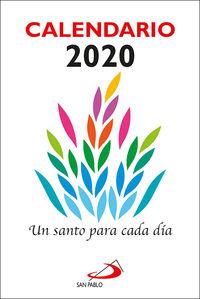 Calendario 2020 - Un Santo Para Cada Dia - Aa. Vv.