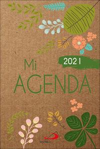 MI AGENDA 2021 - CUBIERTA KRAFT MODELO FLORAL