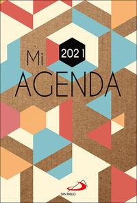 MI AGENDA 2021 - CUBIERTA KRAFT MODELO GEOMETRICO