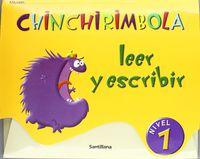 3 AÑOS - LECTOESCRITURA 1 - CHINCHIRIMBOLA