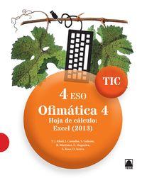 ESO 4 - INFORMATICA - TIC - OFIMATICA 4 - HOJA DE CALCULO: EXCEL