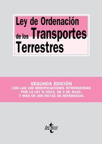 (2 ED) LEY DE ORDENACION DE LOS TRANSPORTES TERRESTRES