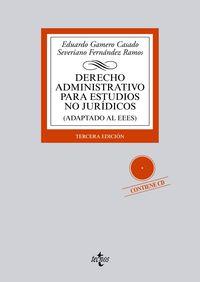 (3ª ED. )  DERECHO ADMINISTRATIVO PARA ESTUDIOS NO JURIDICOS (ADAPTADO AL EEES)  (+CD)