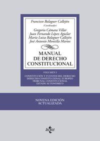 (9ª ED. )  MANUAL DE DERECHO CONSTITUCIONAL VOL. I