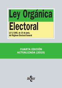 (4 Ed) Ley Organica Electoral - Aa. Vv.