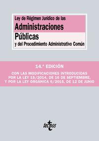 (14ª Ed) Ley De Regimen Juridico De Las Administraciones Publicas Y Del Procedimiento Administrativo Comun - Aa. Vv.
