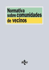Normativa Sobre Comunidades De Vecinos - Aa. Vv.