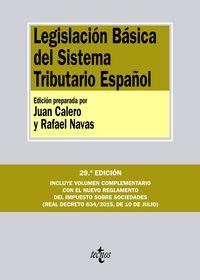 (29ª ED. )  LEGISLACION BASICA DEL SISTEMA TRIBUTARIO ESPAÑOL