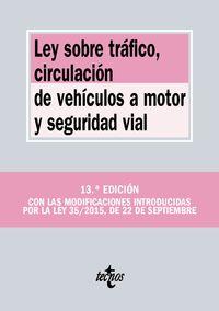 Ley Sobre Trafico, Circulacion De Vehiculos A Motor Y Seguridad Vial - Aa. Vv.