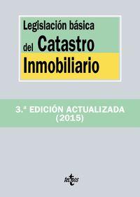 Legislacion Basica Del Catastro Inmobiliario - Aa. Vv.
