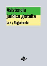 Asistencia Juridica Gratuita - Ley Y Reglamento - Aa. Vv.