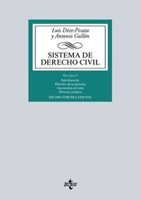 (13 Ed) Sistema De Derecho Civil I - Introduccion - Derecho De La Persona - Autonomia Privada - Persona Juridica - Luis Diez-Picazo / Antonio Gullon
