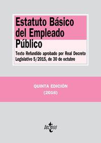 (5 ed) estatuto basico del empleado publico - Aa. Vv.