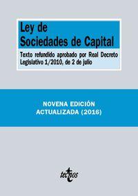 (9 Ed) Ley De Sociedades De Capital - Aa. Vv.