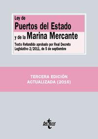 (3 Ed) Ley De Puertos Del Estado Y De La Marina Mercante - Aa. Vv.