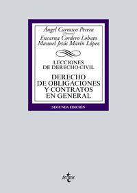 (2 Ed) Derecho De Obligaciones Y Contratos - Lecciones De Derecho Civil - Encarna Cordero Lobato / Manuel Jesus Marin Lopez