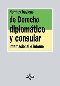 NORMAS BASICAS DE DERECHO DIPLOMATICO Y CONSULAR - INTERNACIONAL E INTERNO