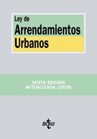 (6 ED) LEY DE ARRENDAMIENTOS URBANOS