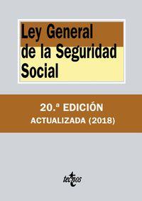 (20 Ed) Ley General De La Seguridad Social - Aa. Vv.
