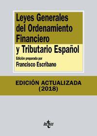 (12 Ed) Leyes Generales Del Ordenamiento Financiero Y Tributario Español - Aa. Vv.