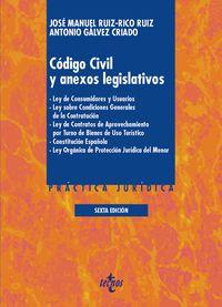 (6 ED) CODIGO CIVIL Y ANEXOS LEGISLATIVOS