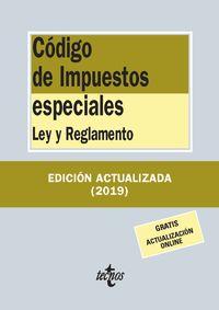 Codigo De Impuestos Especiales - Ley Y Reglamento - Aa. Vv.