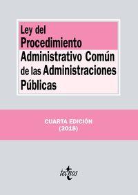 (4 ED) LEY DEL PROCEDIMIENTO ADMINISTRATIVO COMUN DE LAS ADMINISTRACIONES PUBLICAS