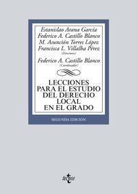 (2 ED) LECCIONES PARA EL ESTUDIO DEL DERECHO LOCAL EN EL GRADO
