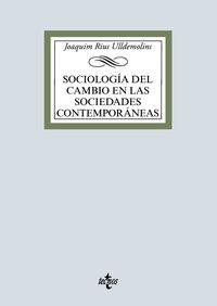 SOCIOLOGIA DEL CAMBIO EN LAS SOCIEDADES CONTEMPORANEAS