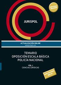 TEMARIO I - ESCALA BASICA - POLICIA NACIONAL - CIENCIAS JURIDICAS