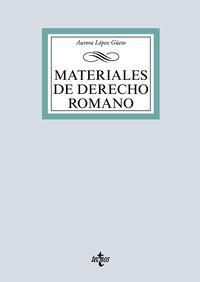 Materiales De Derecho Romano - Aurora Lopez Geeto