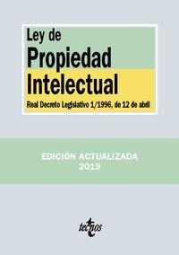 (4 ED) LEY DE PROPIEDAD INTELECTUAL - REAL DECRETO LEGISLATIVO 1*1996, DE 12 DE ABRIL