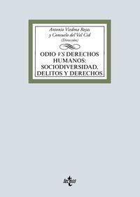 Odio Vs Derechos Humanos: Sociodiversidad, Delitos Y Derechos - Antonio Viedma Rojas / Consuelo Del Val Cid / [ET AL. ]