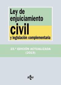 (23 Ed) Ley De Enjuiciamiento Civil Y Legislacion Complementaria - Aa. Vv.