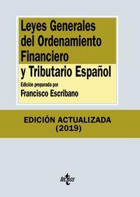 (13 Ed) Leyes Generales Del Ordenamiento Financiero Y Tributario Español - Aa. Vv.