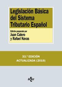 (33 Ed) Legislacion Basica Del Sistema Tributario Español - Aa. Vv.