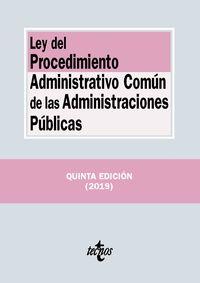 (5 ed) ley del procedimiento administrativo comun de las administraciones publicas - Aa. Vv.