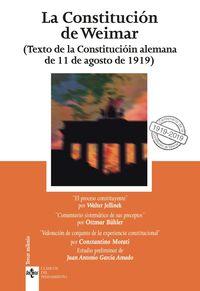 Constitucion De Weimar, La - Texto De La Constitucion Alemana De 11 De Agosto De 1919 - Ottmar Buhler / Walter Jellinek / Costantino Mortati