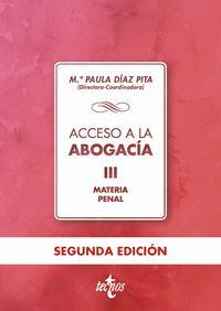 ACCESO A LA ABOGACIA III - MATERIA PENAL