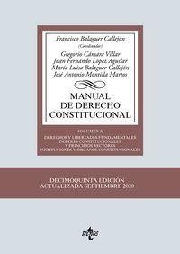 (15 ED) MANUAL DE DERECHO CONSTITUCIONAL II - DERECHOS Y LIBERTADES FUNDAMENTALES - DEBERES CONSTITUCIONALES Y PRINCIPIOS RECTORES - INSTITUCIONES Y ORGANOS CONSTITUCIONALES