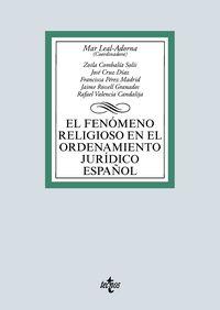 FENOMENO RELIGIOSO EN EL ORDENAMIENTO JURIDICO ESPAÑOL, EL