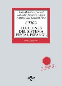 (5 ED) LECCIONES DEL SISTEMA FISCAL ESPAÑOL