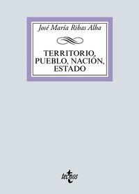 TERRITORIO, PUEBLO, NACION, ESTADO