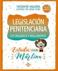 LEGISLACION PENITENCIARIA - ESTUDIA CON MARTINA - LEY Y REGLAMENTO
